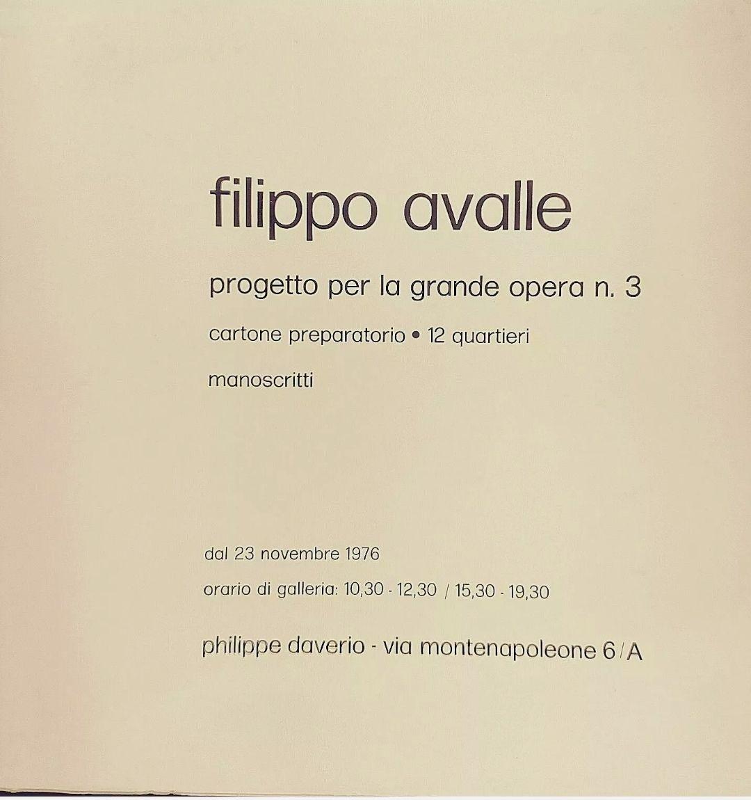 Filippo Avalle catalogo galleria Philippe Daverio 1976 – una delle prime pubblicazioni della galleria
