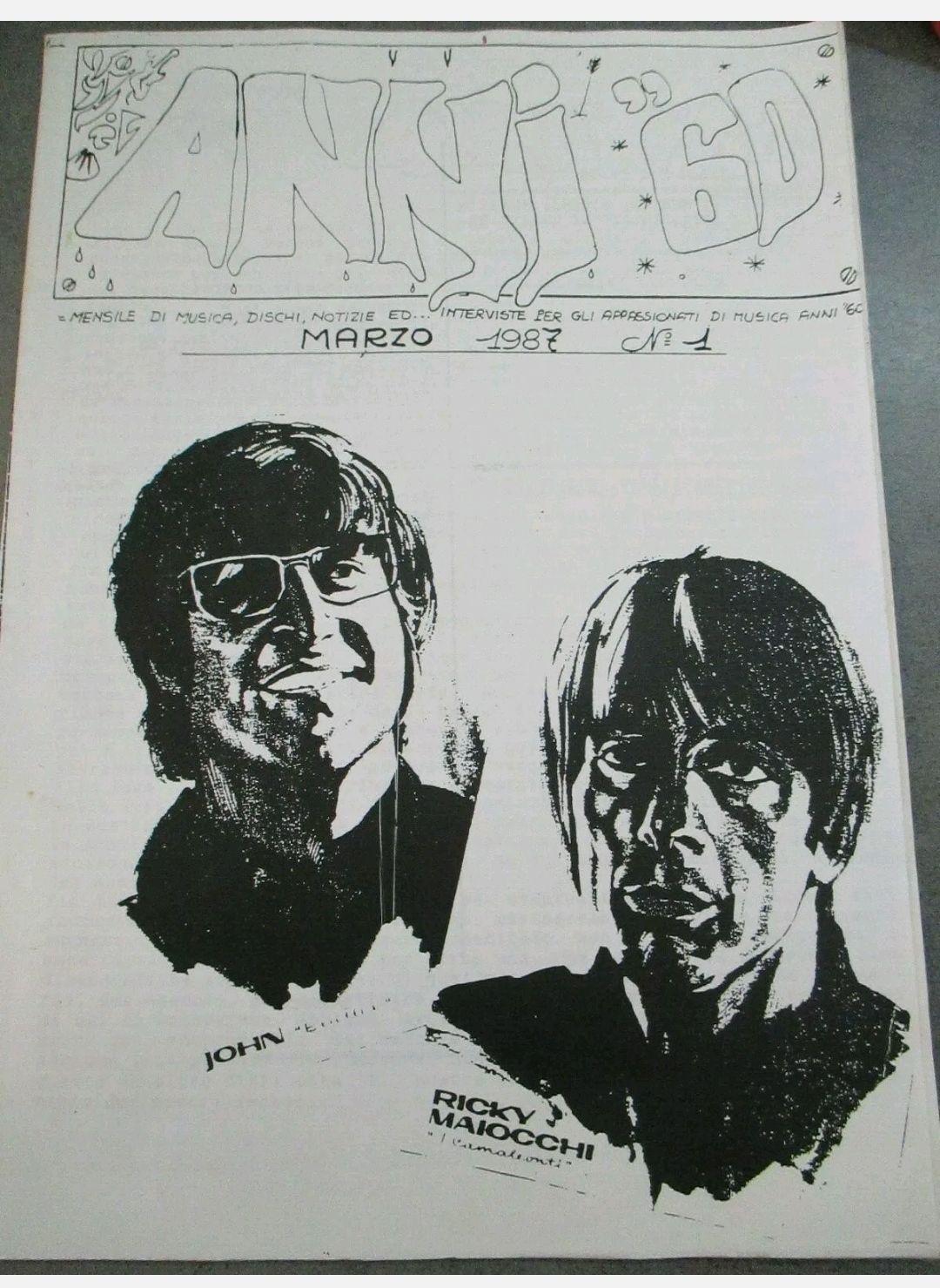 ANNI '60 – FANZINE MUSICALE BEAT POP – 87 NUMERI 1987/2000 – COMPLETA RARISSIMA!