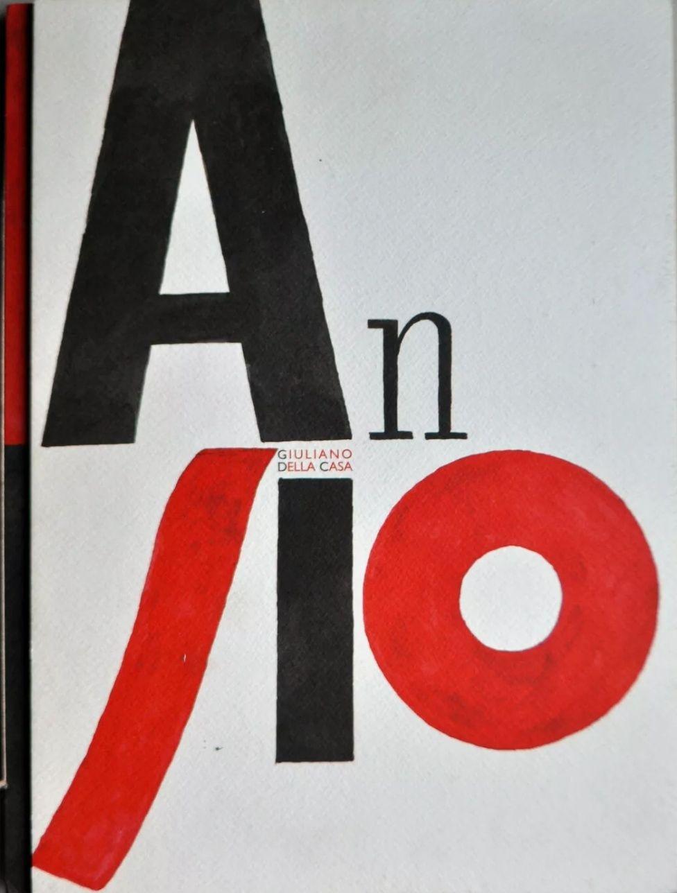 Giuliano Della Casa, Asino. Libro d'artista-poster. 350 copie. Dedica autografa. Prezzo eccezionale: 30€