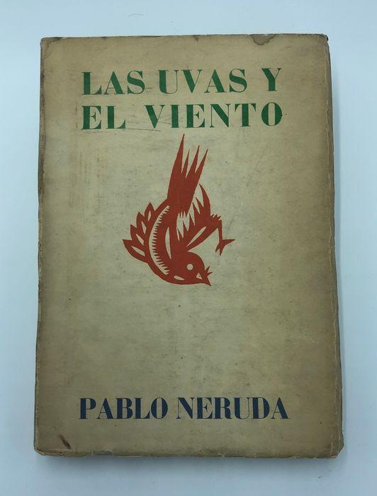"""""""Las uvas y el viento"""", di Pablo Neruda (Santiago del Cile, Nascimento, 1954) in asta su Catawiki"""