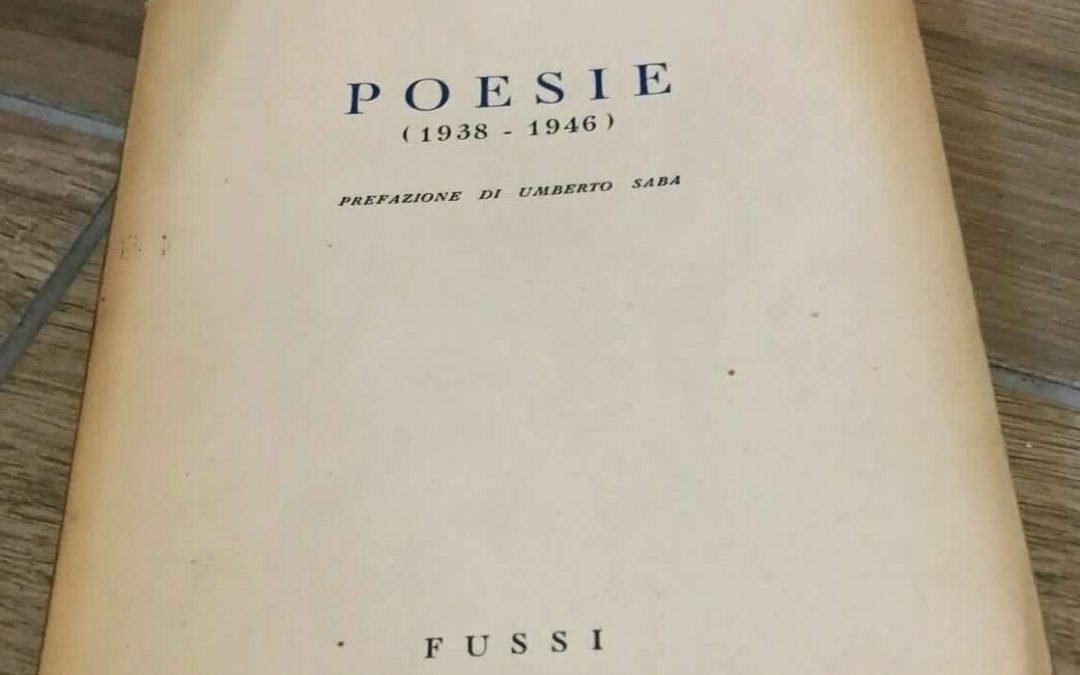 """Una copia con invio autografo di """"Poesie"""" di Federico Almansi (Fussi, 1948): il giovane amico di Umberto Saba"""