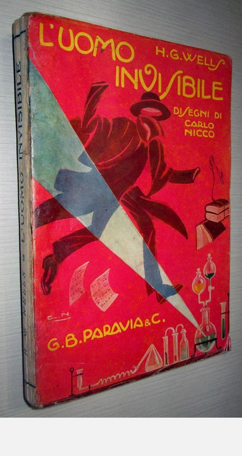 L'UOMO INVISIBILE (Ed. G.B. Paravia & C. – 1925) – Herbert George Wells. A 49 €