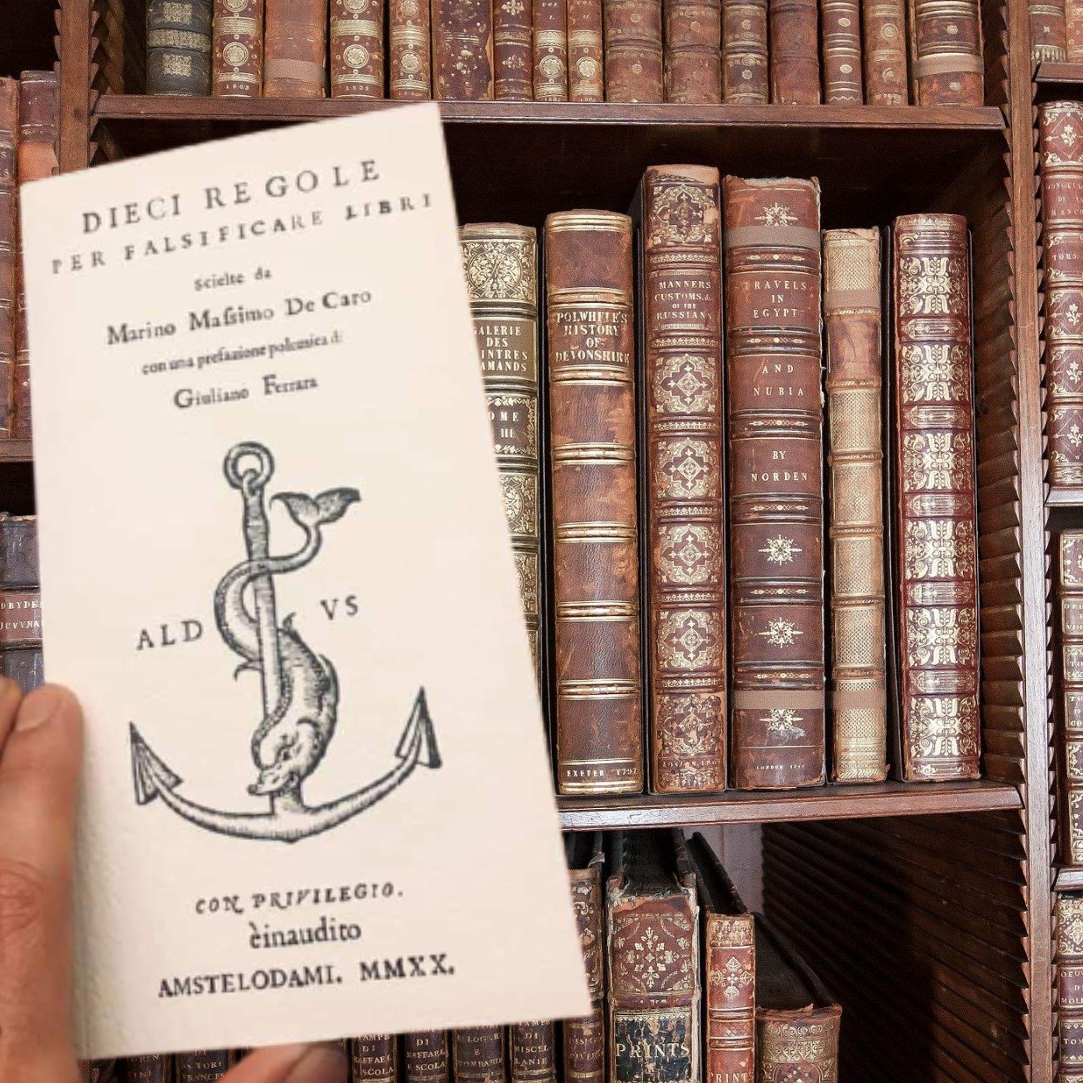 """""""Dieci regole per falsificare libri"""" di Marino Massimo De Caro in vendita negli U.S.A. a 242 €: valutazione record!"""