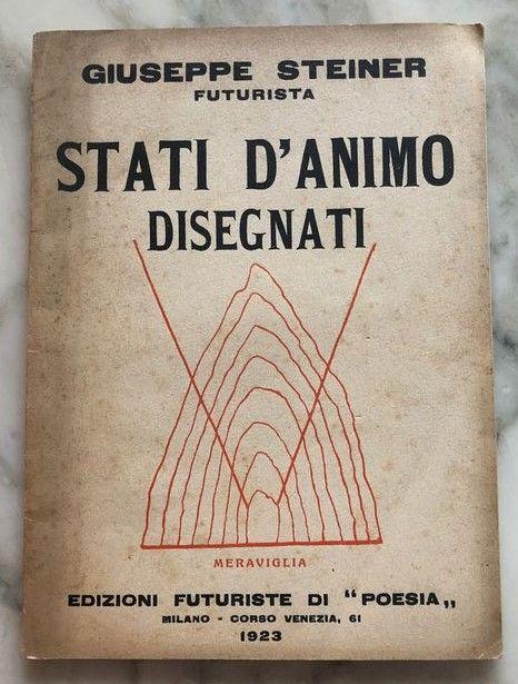 """""""Stati d'animo disegnati"""" di Giuseppe Steiner (Edizioni Futuriste di poesia, 1923): poesia parolibera futurista"""