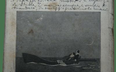 """Una clamorosa dedica in copertina di """"Amanti e Poeti"""" (1925) dell'antifascista in esilio Roberto Marvasi"""