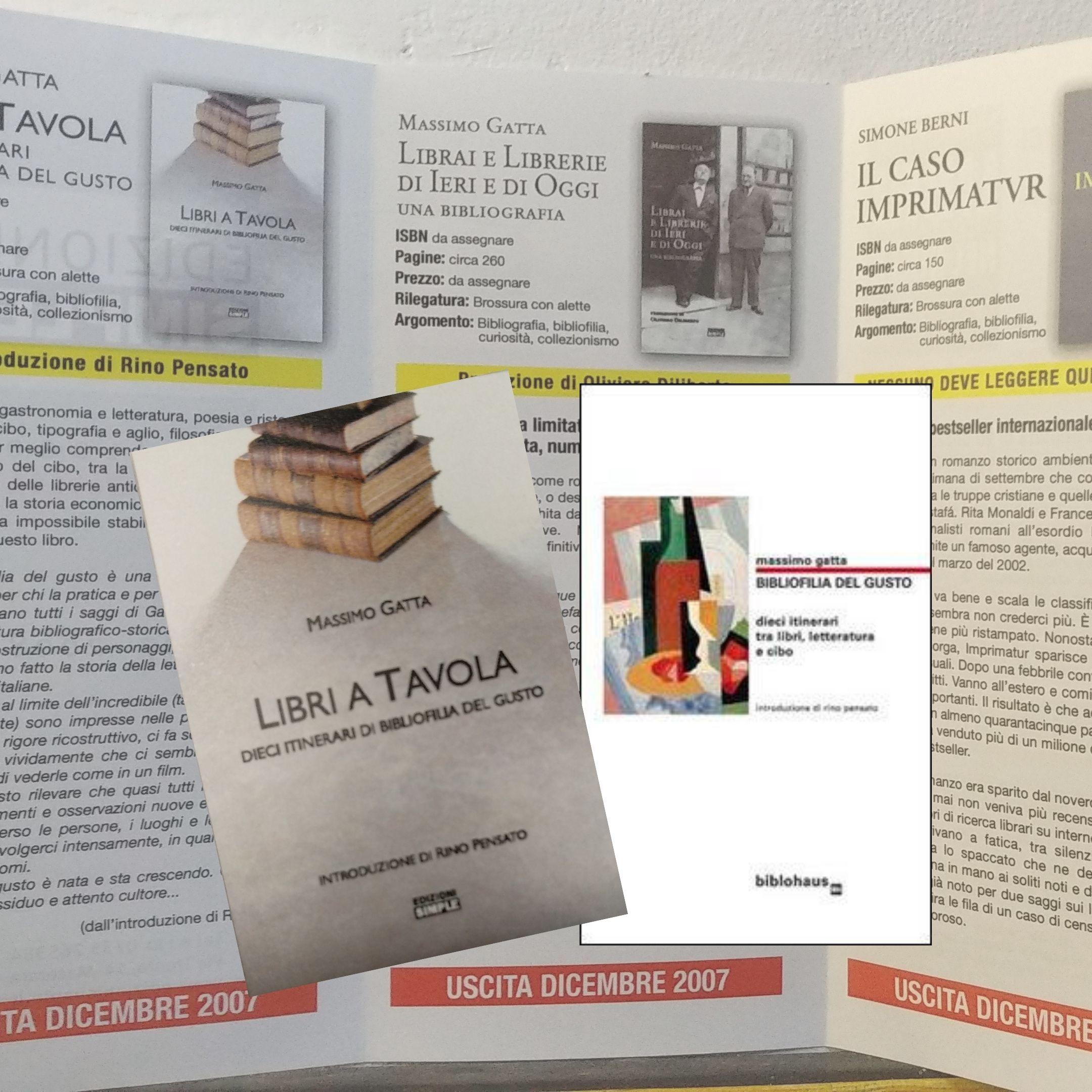 """Avevate mai visto """"Libri a tavola"""" di Massimo Gatta? Da una copertina scartata un pezzo raro della Biblohaus, anzi no!"""