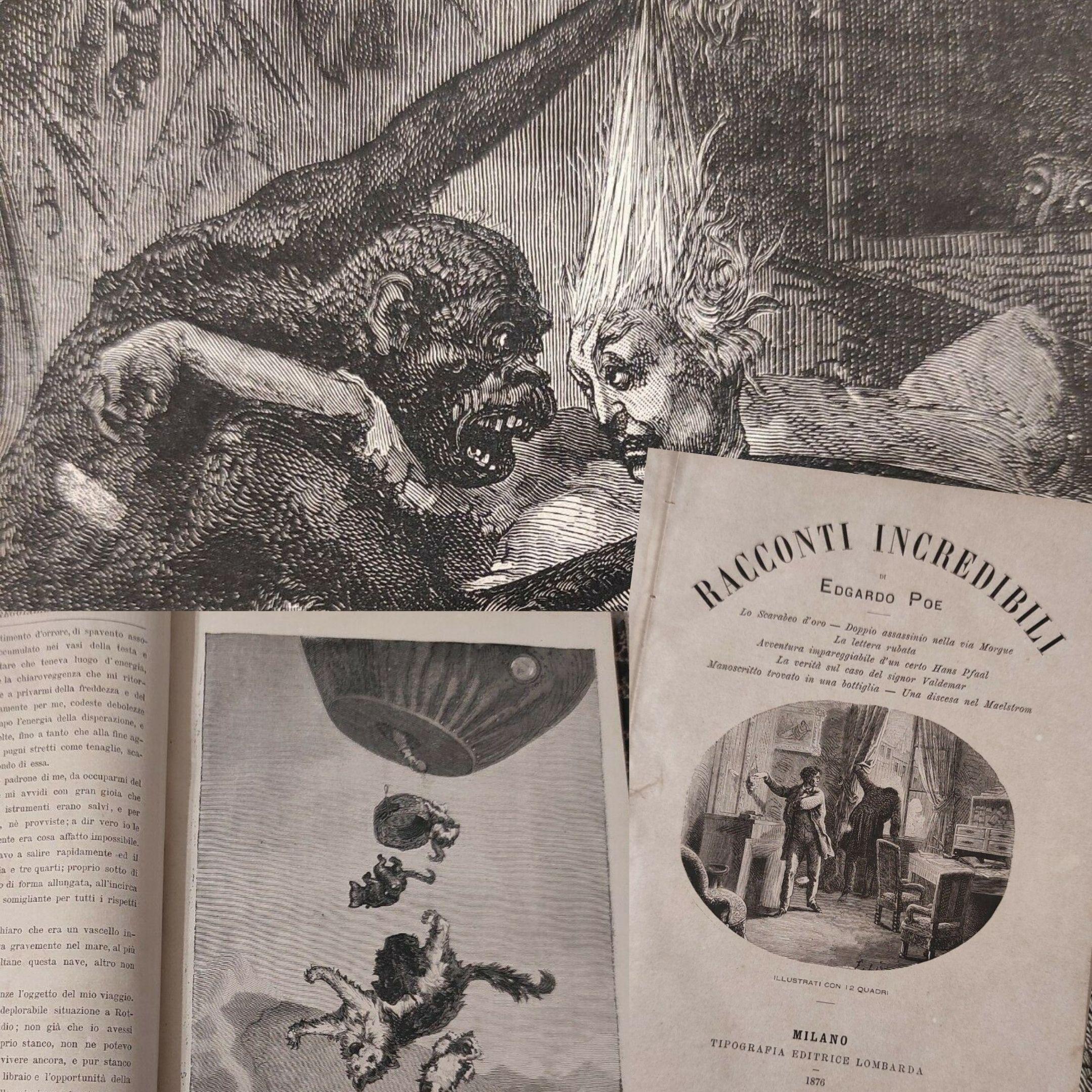 """La prima edizione italiana illustrata dei """"Racconti incredibili"""" di Edgardo Poe (1876)"""
