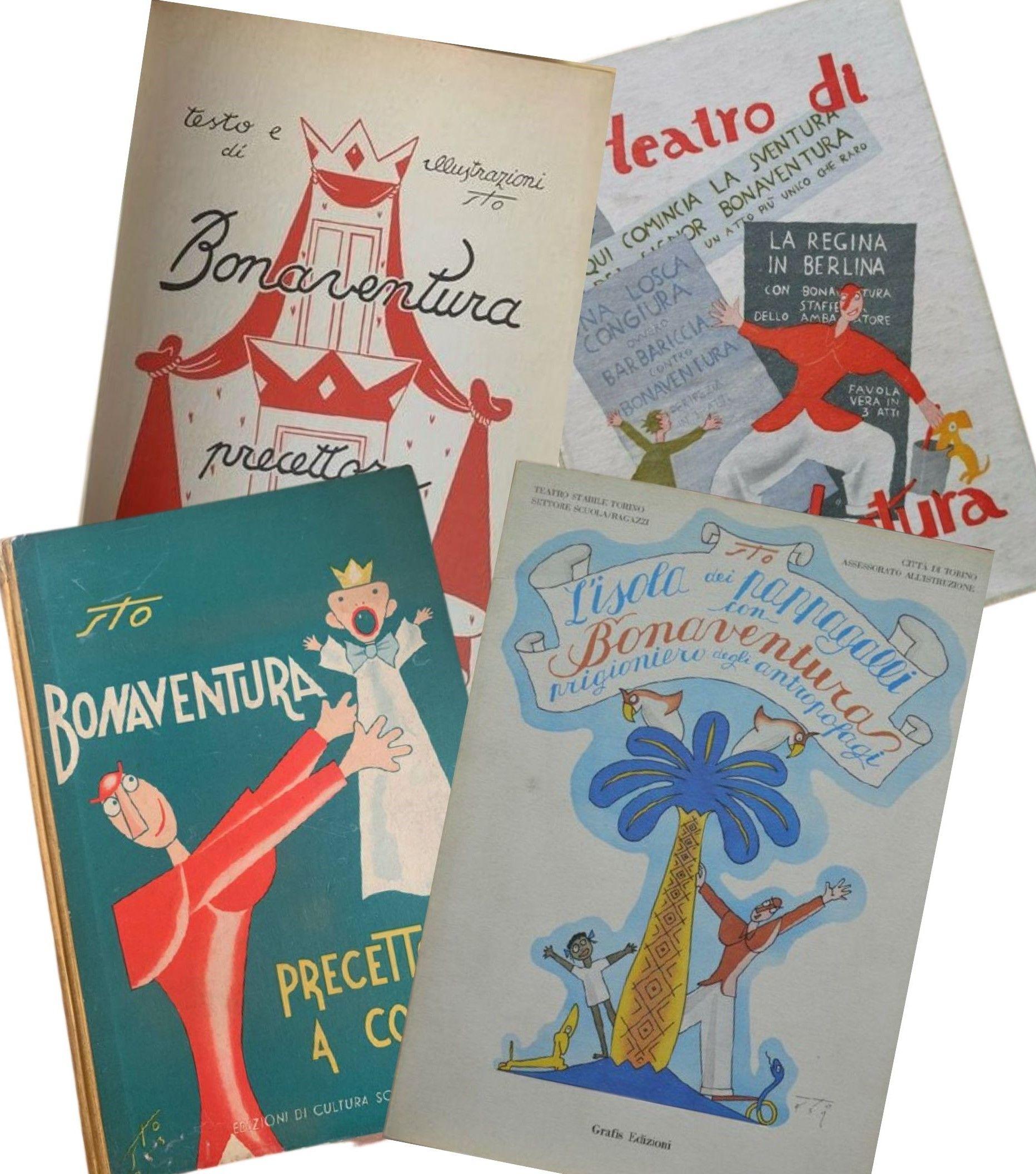 Lotto di 4 libri del Signor Bonaventura (disegnato da Sto – Sergio Tofano) in asta