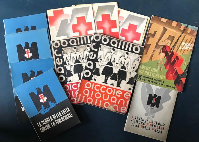 Una collezione strepitosa: 11 libri per la prevenzione della Tubercolosi durante il Fascismo (anni '30)
