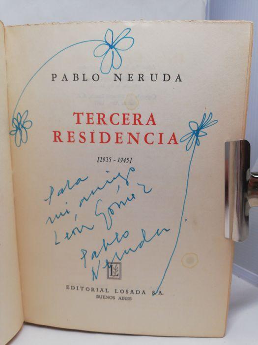 """""""Tercera Residencia"""" di Pablo Neruda (1947) con autografo in asta su Catawiki"""