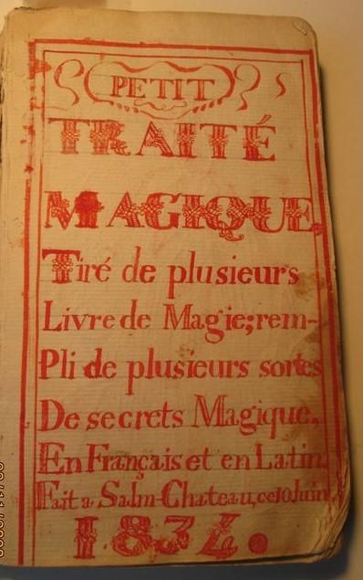 Uno straordinario libro di magia e stregoneria (epoca 1834) scritto e illustrato a mano