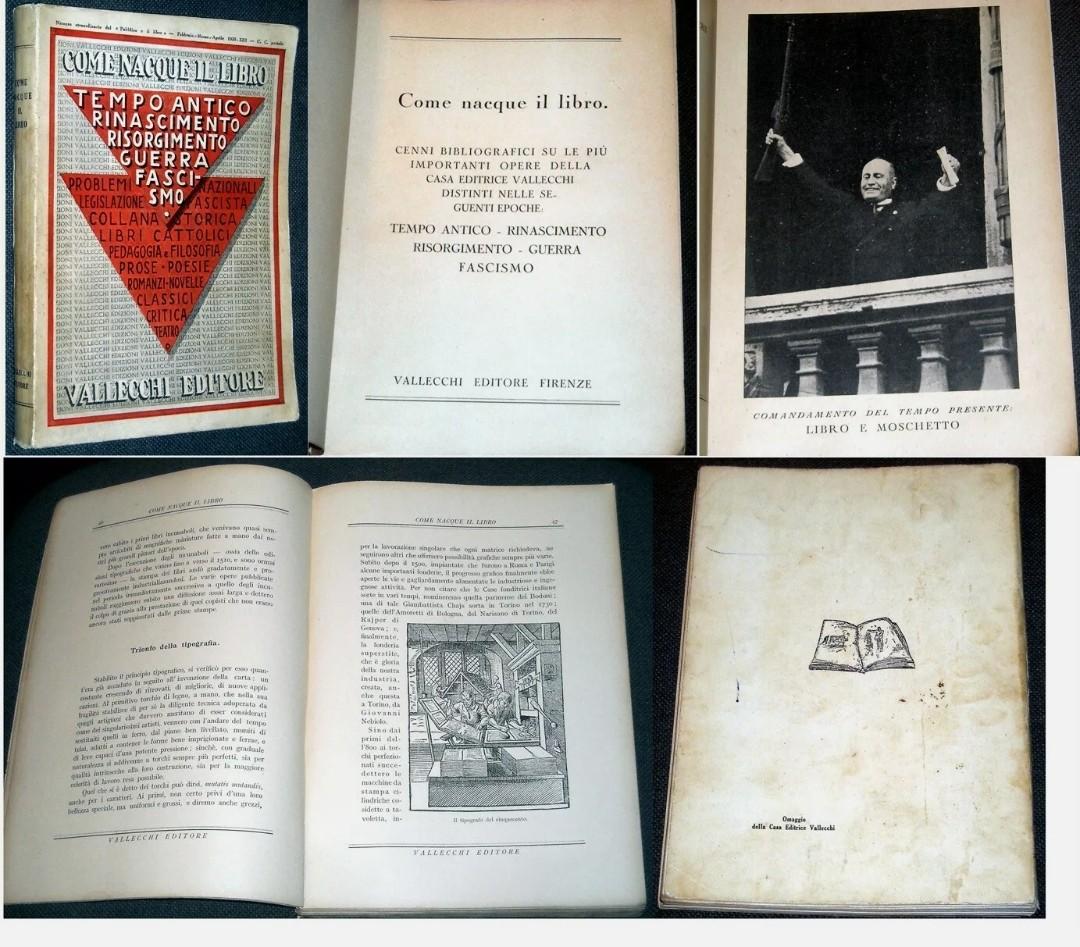 COME NACQUE IL LIBRO FASCISMO 1935 PRIMA EDIZIONE VALLECCHI, 8,89 €