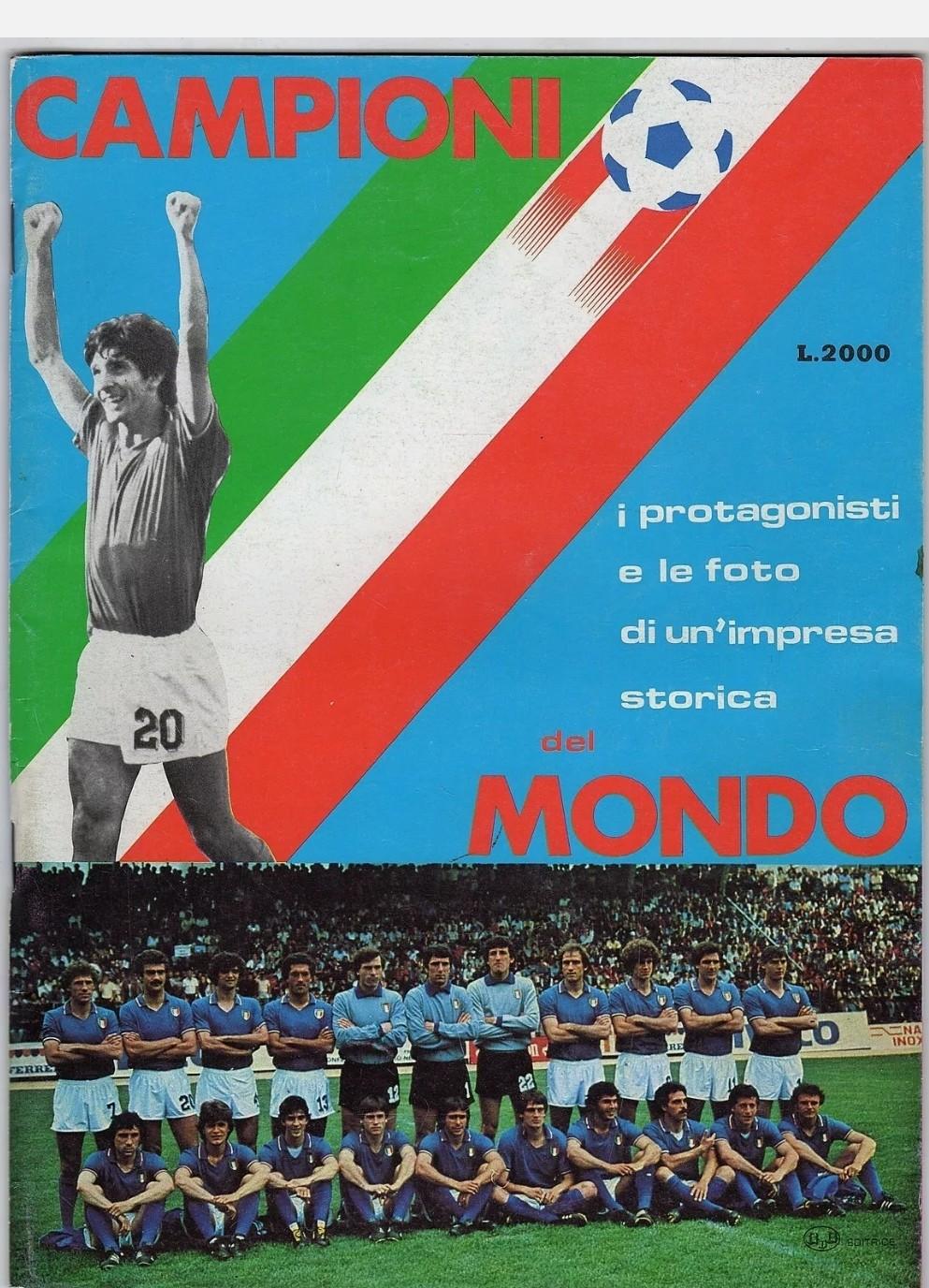 CAMPIONI DEL MONDO NAZIONALE ITALIANA ESPANA 82 SPAGNA 1982 PAOLO ROSSI