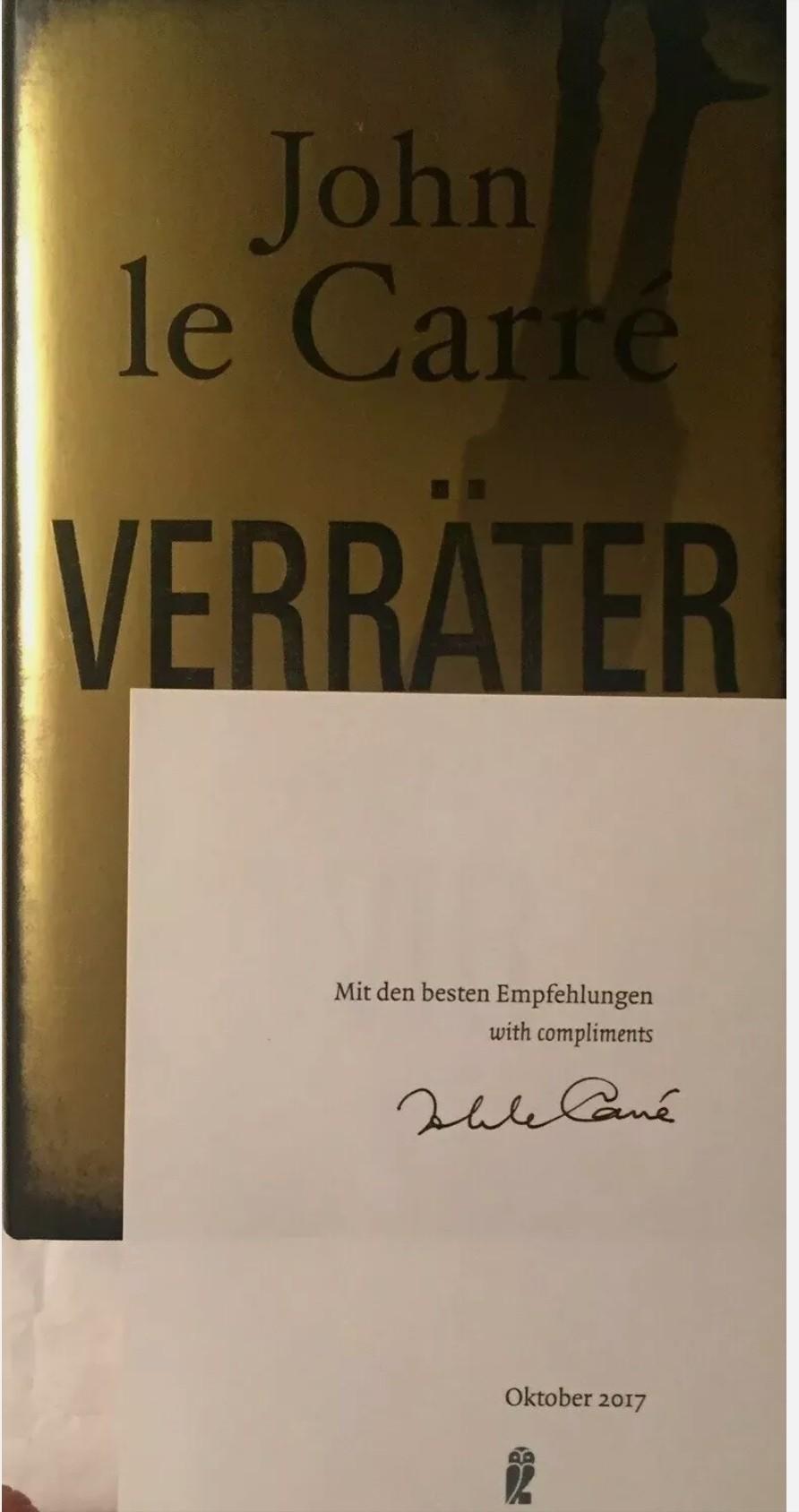 John LE CARRE firmato libro originale signed firma firma AUTOGRAFO