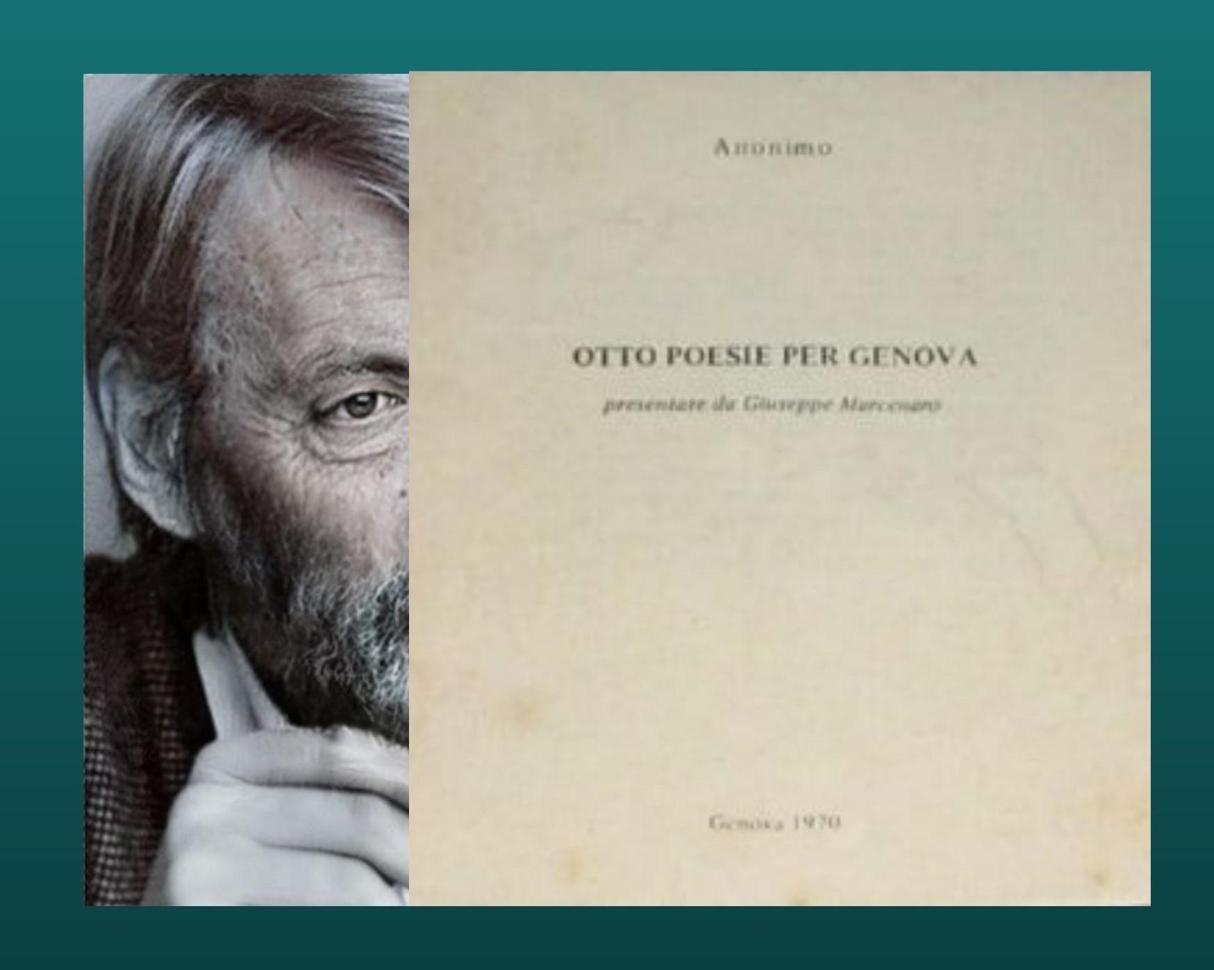 """""""Otto poesie per Genova"""" presentate da Giuseppe Marcenaro (1970): un curioso pieghevole in asta, e se fosse…"""