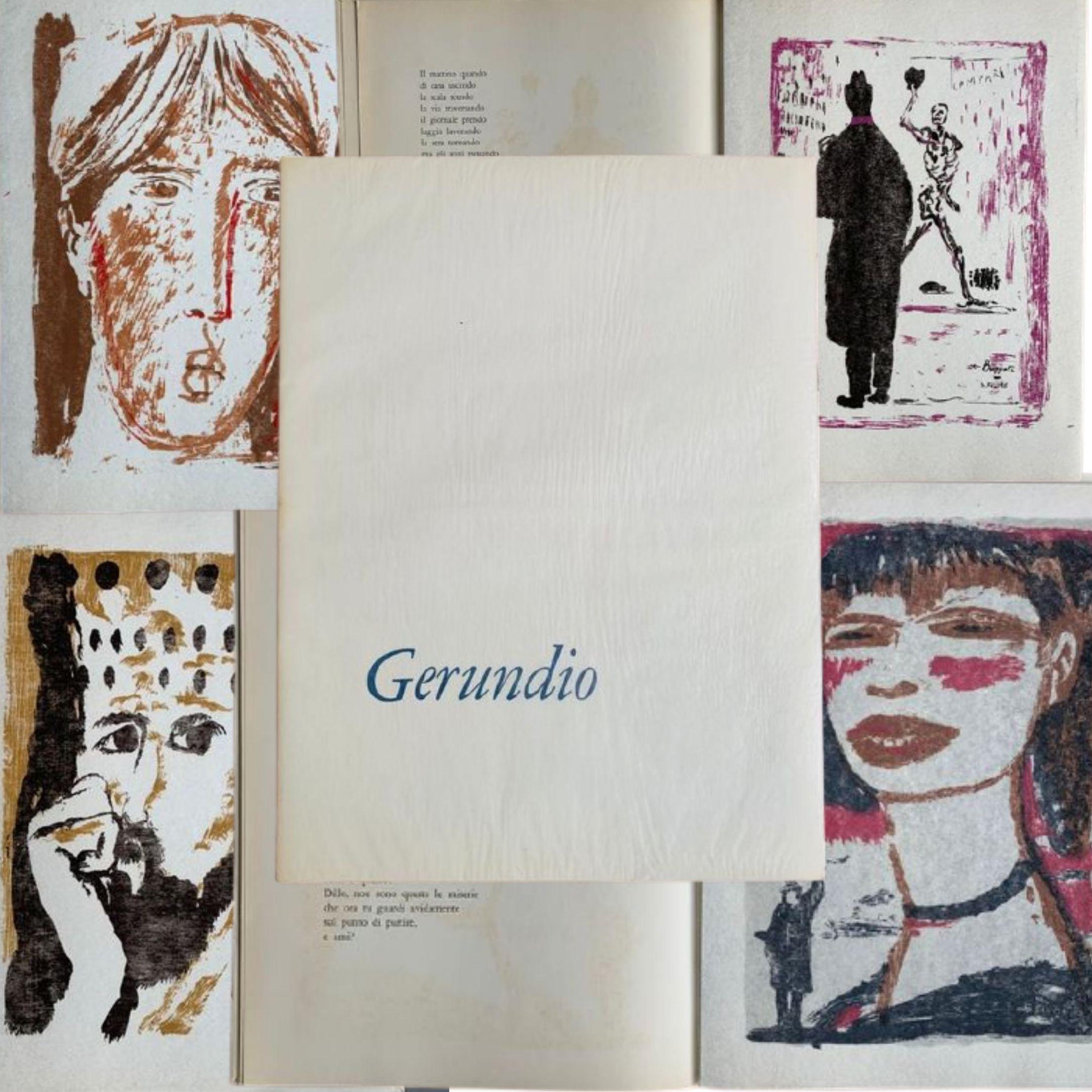 """A 7 euro in asta """"Gerundio"""" di Dino Buzzati (Milano, Officina d'Arte Grafica A. Lucini e C., 1959) con serigrafie di Salvatore Fiume"""