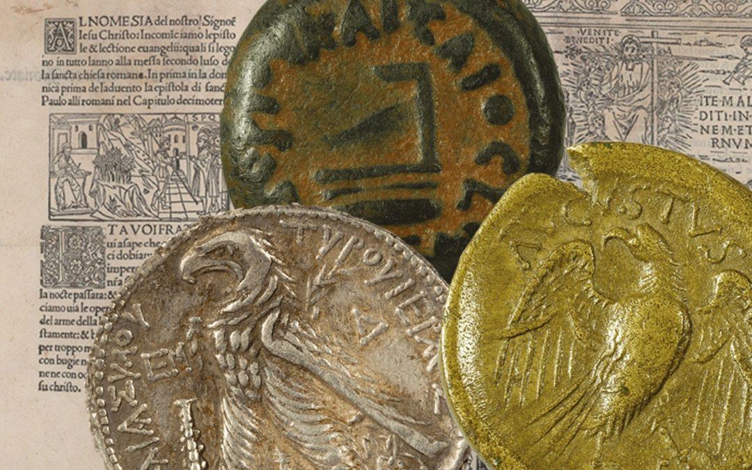 Una riedizione d'eccellenza con la riproduzione di 7 monete dei tempi di Gesù incastonate in copertina