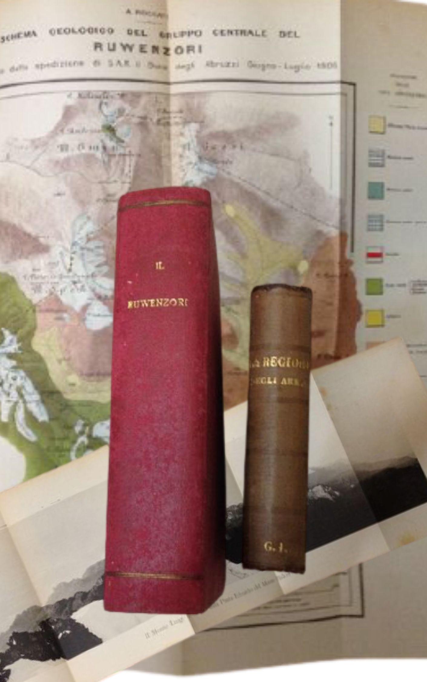 Prezioso lotto di due libri sulle esplorazioni in Africa: Ruwenzori, Amedeo d'Aosta e la regione degli Akkà