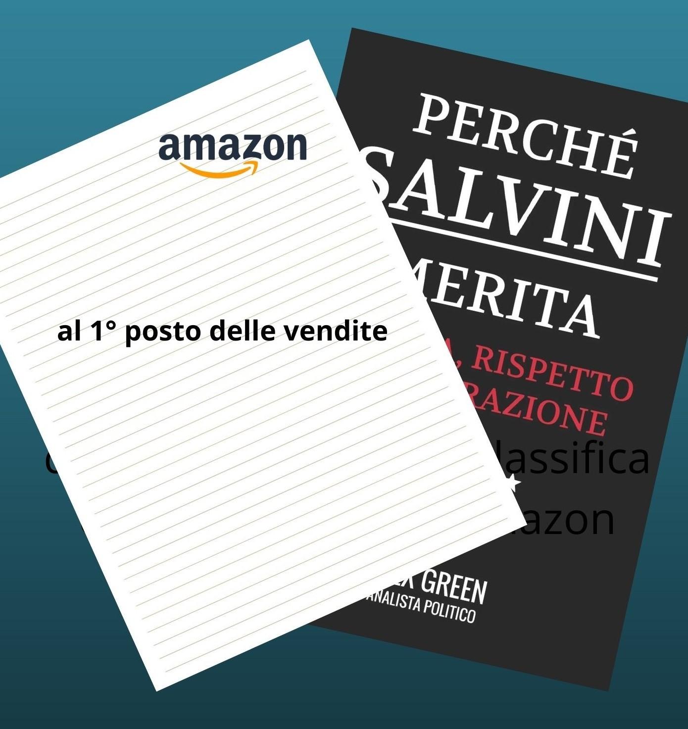 Un libro su Matteo Salvini con pagine senza testo (e senza foto) va al 1° posto nelle vendite su Amazon