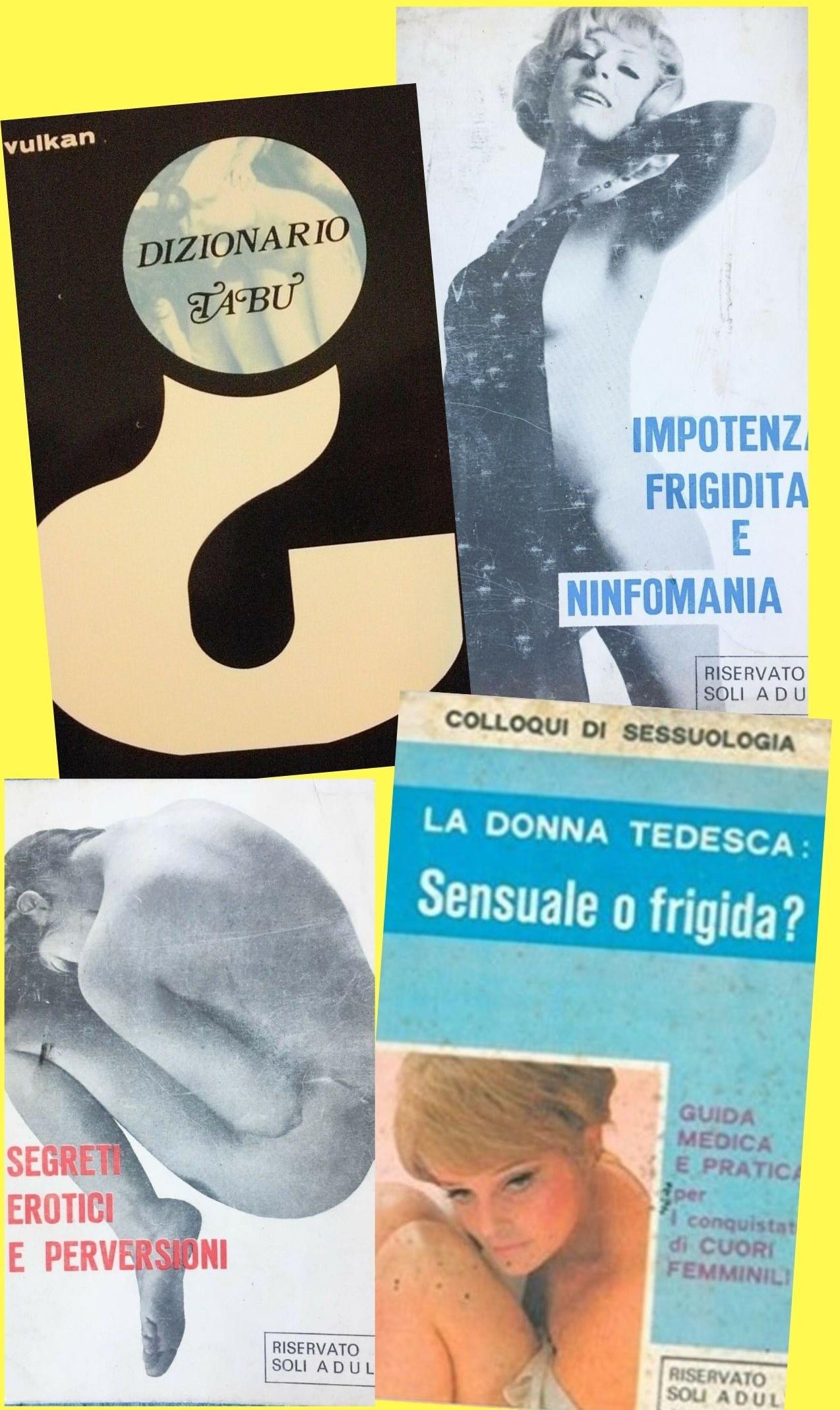 4 libri molto anni '70: erotismo, frigidità, ninfomania, perversione