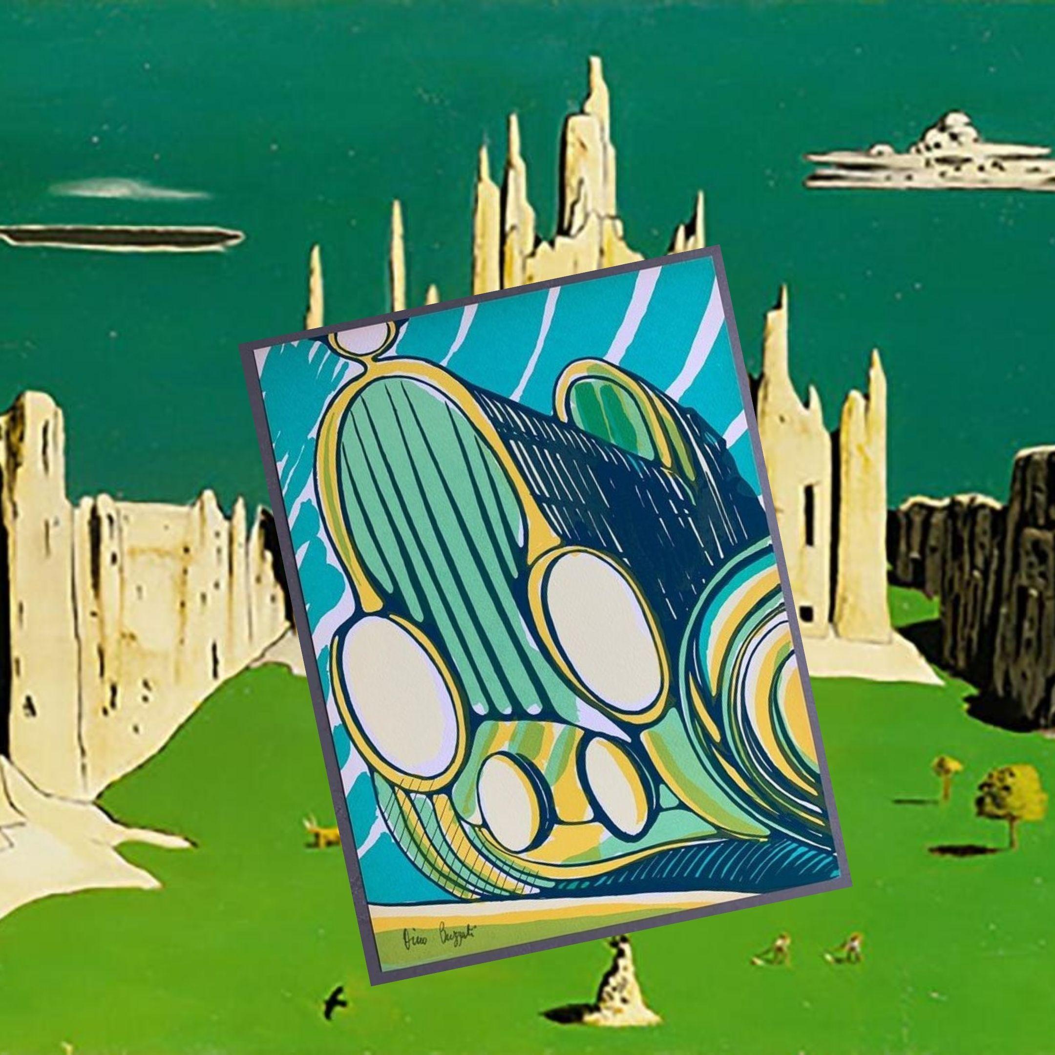 """In asta uno dei 90 esemplari di un'edizione eccezionale di Dino Buzzati: """"Vecchia auto"""" (1968) completamente illustrata dall'autore"""