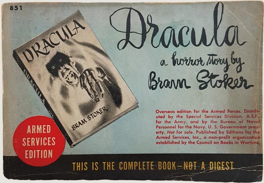 """Una copia della rara edizione militare di """"Dracula"""" (circa 1943) a un prezzo interessante"""