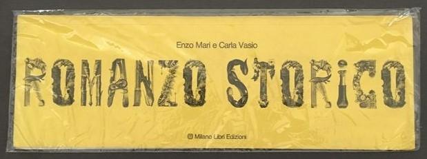 Un libro d'artista (lungo 50 cm) di Enzo Mari e Carla Vasio (1975) che racconta una storia straordinaria