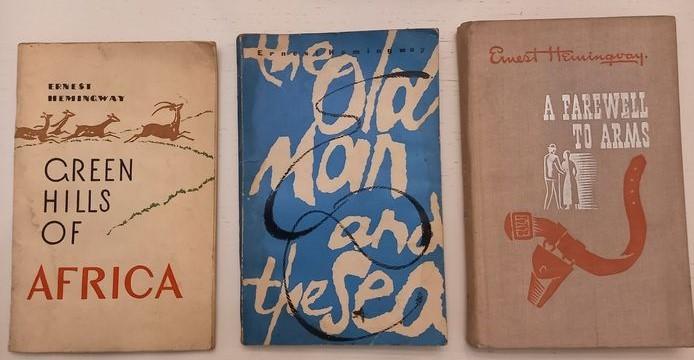 Tre prime edizioni russe (in lingua inglese!) di Ernest Hemingway: curiosità in asta