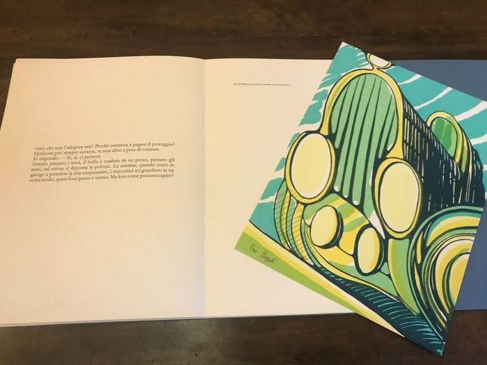 """""""Vecchia auto"""" di Dino Buzzati (1968): in asta uno dei 90+15 esemplari illustrati dall'autore"""