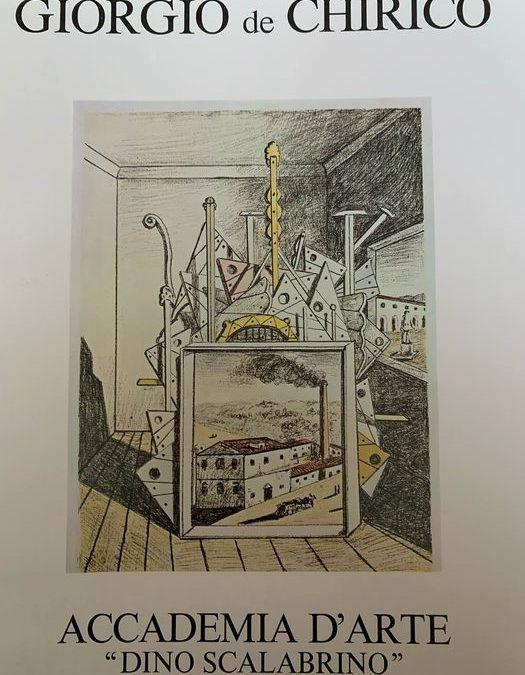 Un catalogo (quasi introvabile) di Giorgio De Chirico impreziosito dalla sua celebre firma
