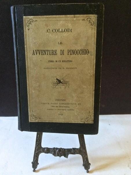 """Clamoroso: le prime tre edizioni de """"Le avventure di Pinocchio"""" di Carlo Collodi (1883-86-87) contemporaneamente in vendita nella stessa libreria"""