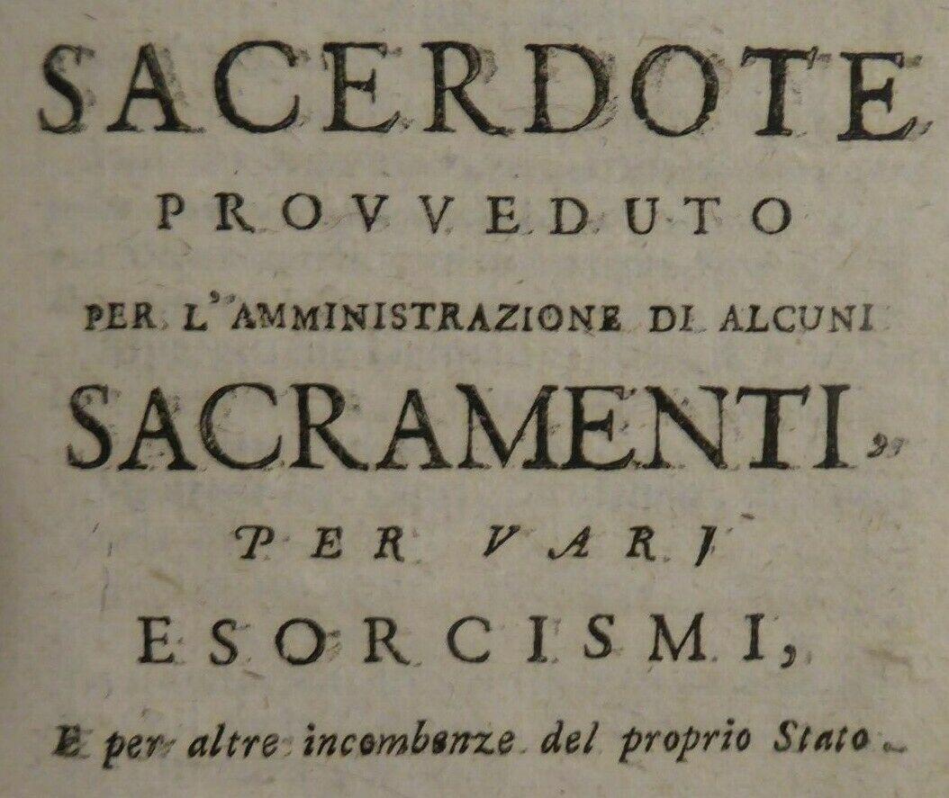 Libro per l'assistenza ai moribondi – con pratiche di esorcismi incluse – edizione del 1802 in asta