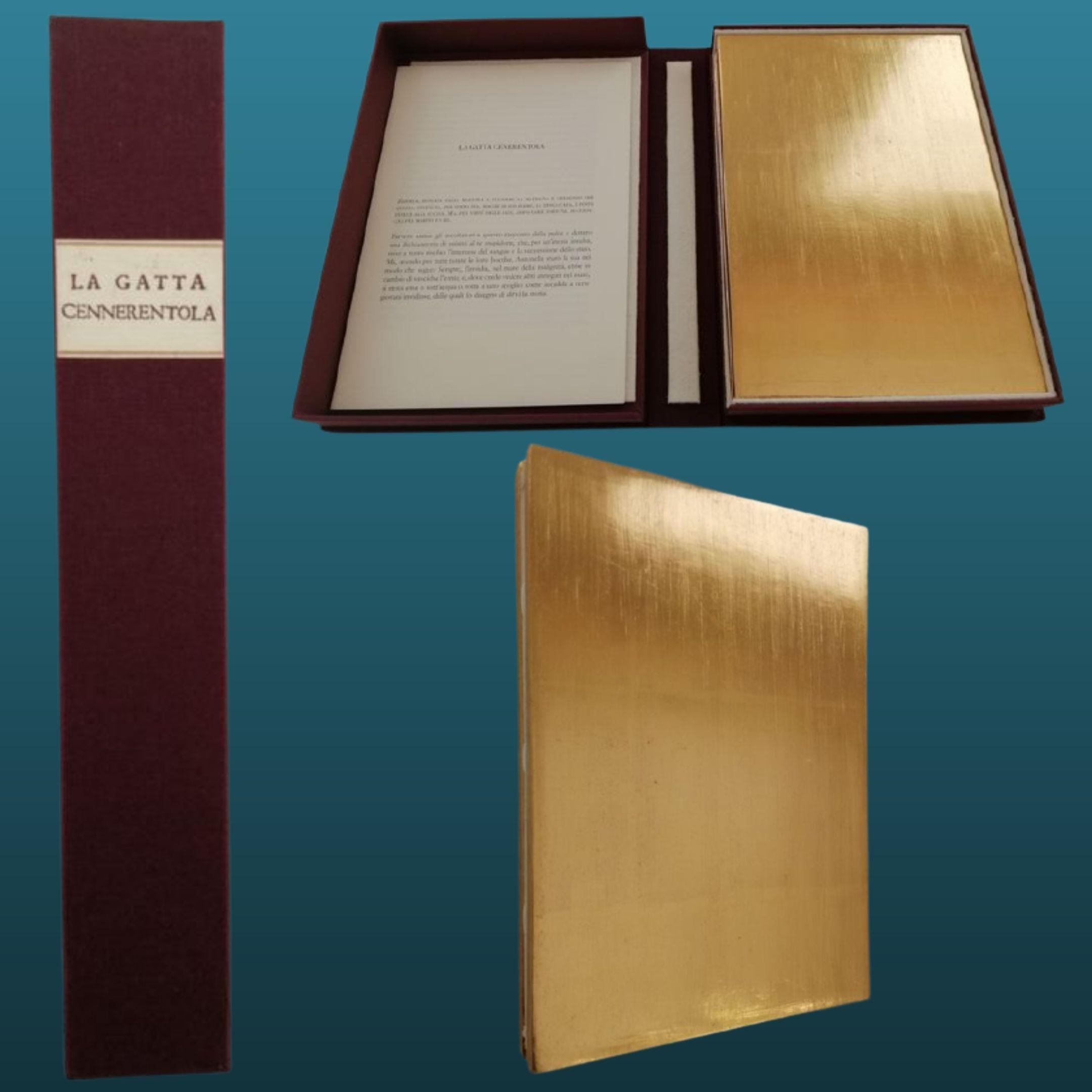 """In asta una straordinaria edizione de """"La gatta cennerentola"""" di Giambattista Basile ricoperta d'oro a 24k"""
