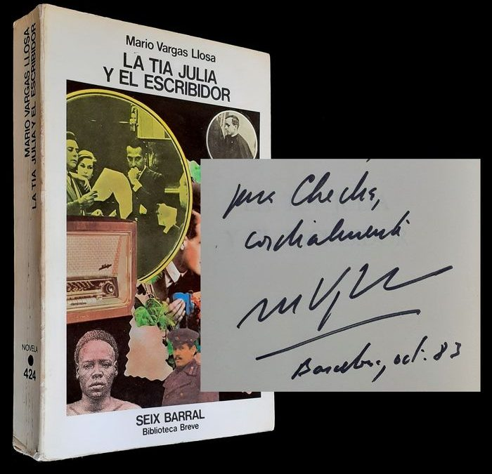 """""""La Tía Julia y el Escribidor"""" di Mario Vargas Llosa (Seix Barral, 1977): prima edizione firmata in asta"""