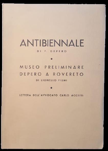 """In asta un esemplare di """"Antibiennale Venezia 1954"""" di Fortunato Depero (Manfrini, 1955)"""