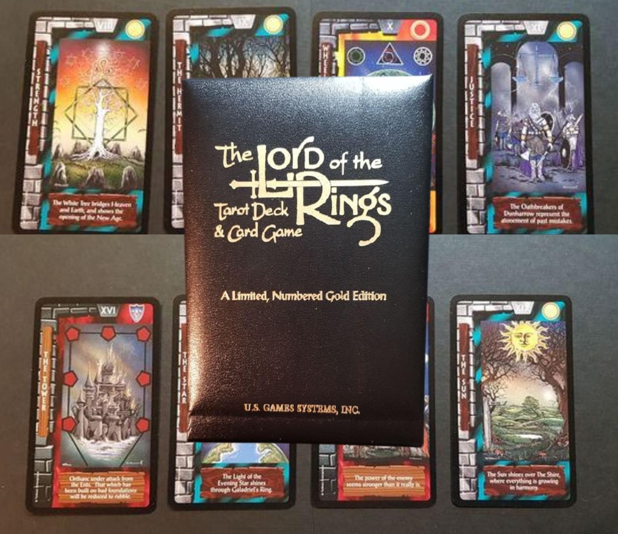 """""""I Tarocchi del Signore degli Anelli"""" di Tolkien in edizione Deluxe (1997): rari!"""