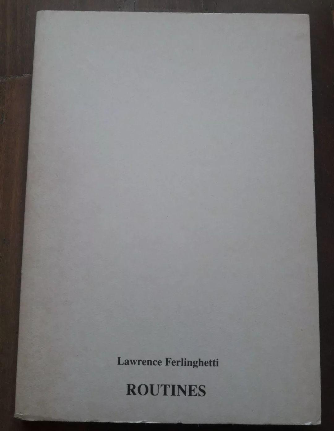 Ferlinghetti Routines FIRMA SIGNED AUTOGRAPH 1998 City Lights Italia Firenze