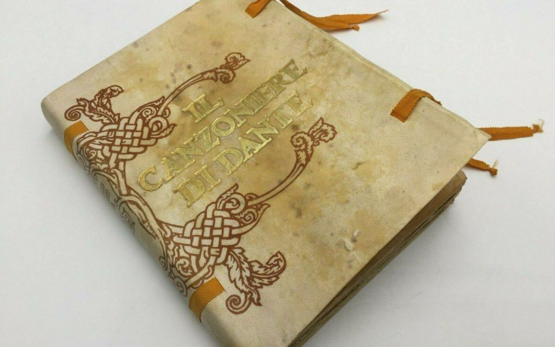 """Era il 600° anniversario Dantesco (1921) – Usciva l'edizione rilegata in pergamena del """"Canzoniere illustrato"""" da Dante Gabriel Rossetti"""