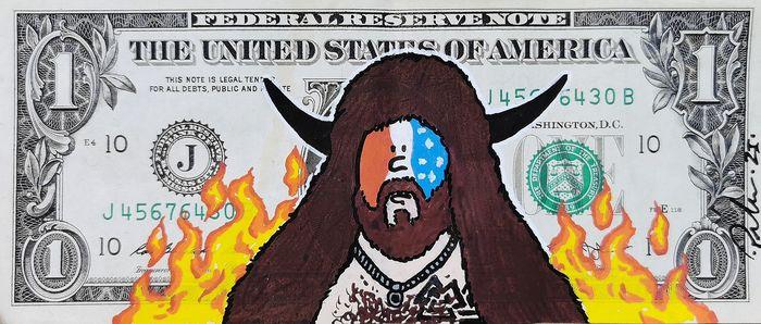 """""""The Capitol"""": opera in copia unica dell'artista PNSHR ispirata ai fatti del 6 gennaio 2021 (assalto al Campidoglio di Washington)"""