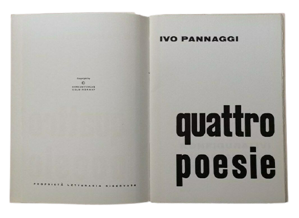 In asta un pezzo polemico e raro di poesia del futurista Pannaggi stampato a Oslo nel 1965 e rifiutato dal Premio Tolentino