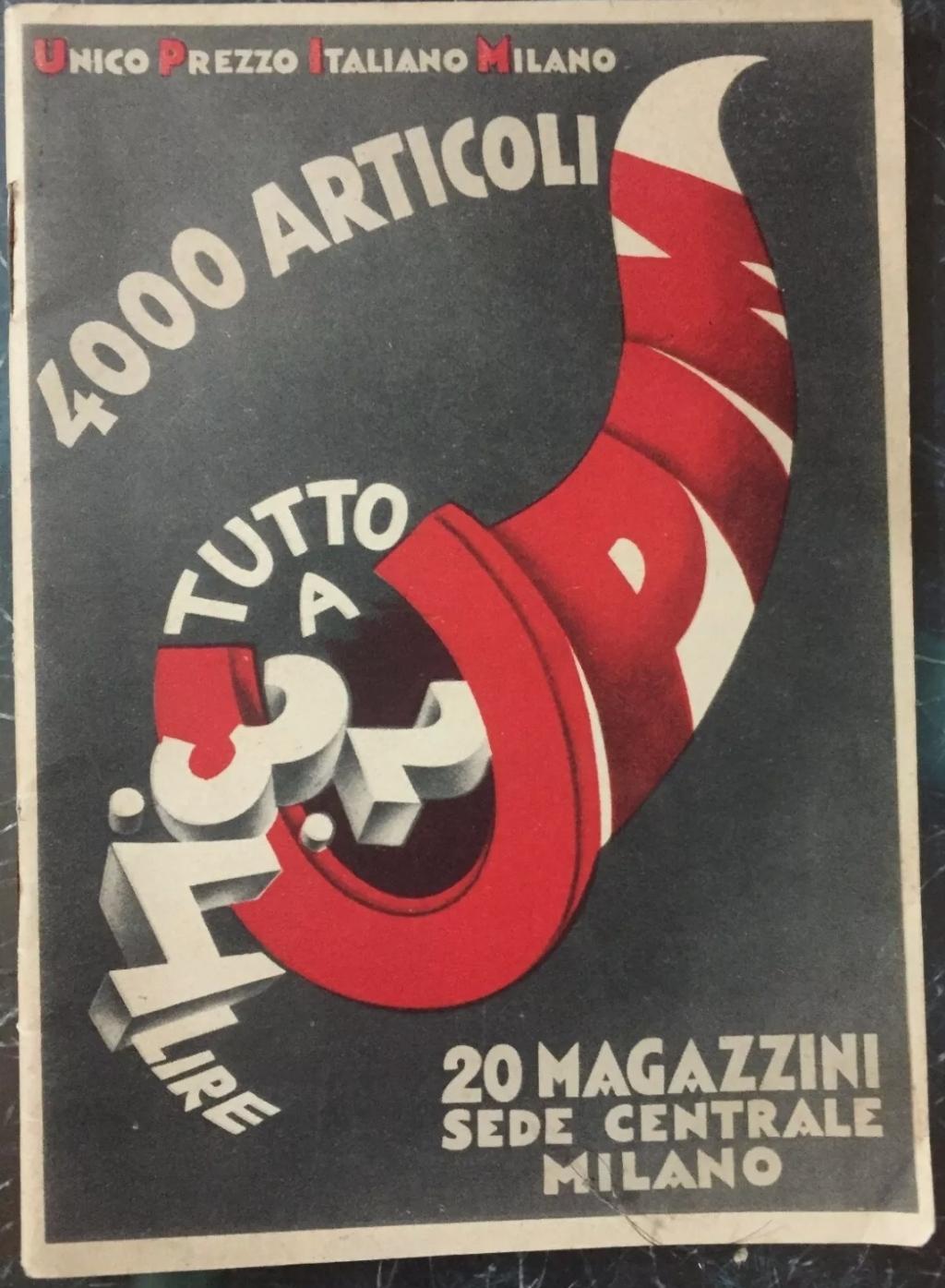 UPIM catalogo del 1930 Quattromila articoli tutto a 2-3-4 lire in 20 magazzini INTROVABILE
