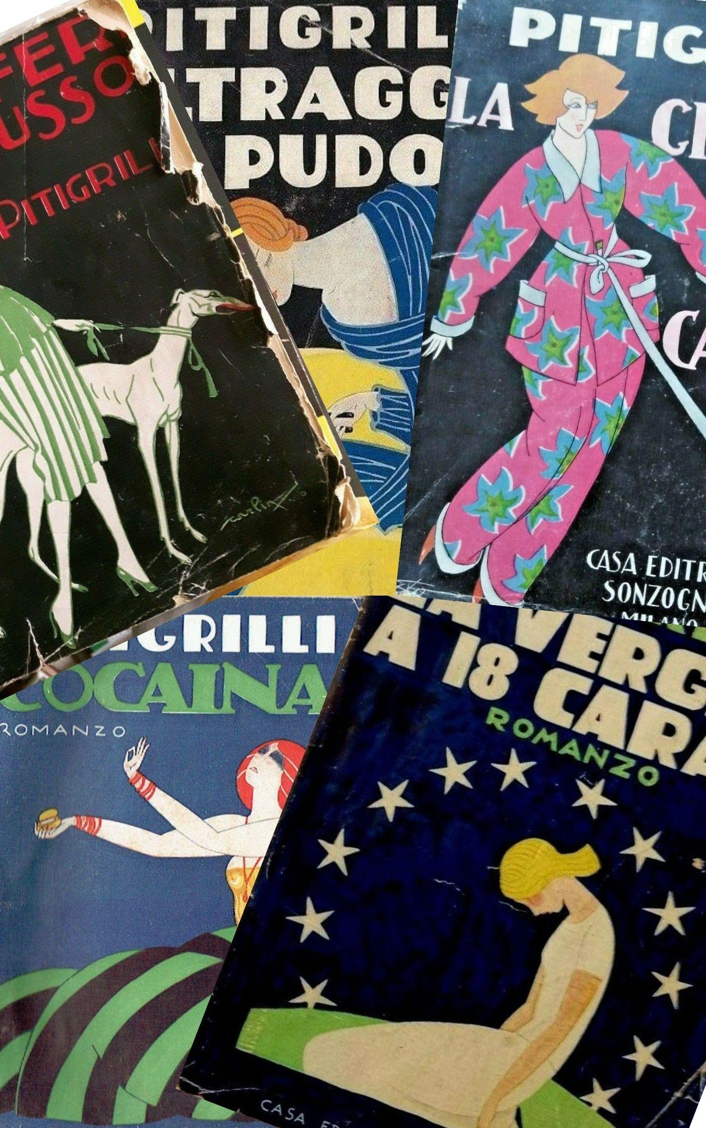 Cinque splendide copertine esempio di grafica anni '20 valgono bene un Pitigrilli a luci rosse