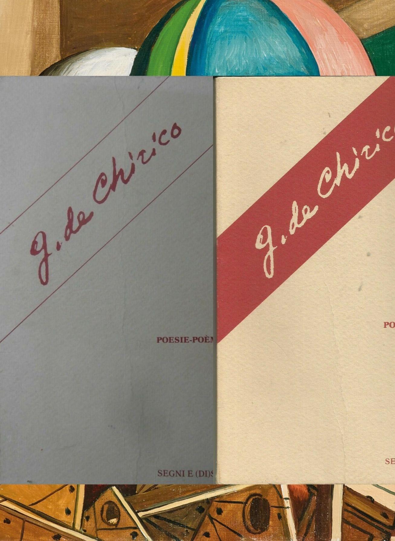 Due interessanti raccolte di poesie di Giorgio De Chirico (1980 e 1983) con illustrazioni dell'autore