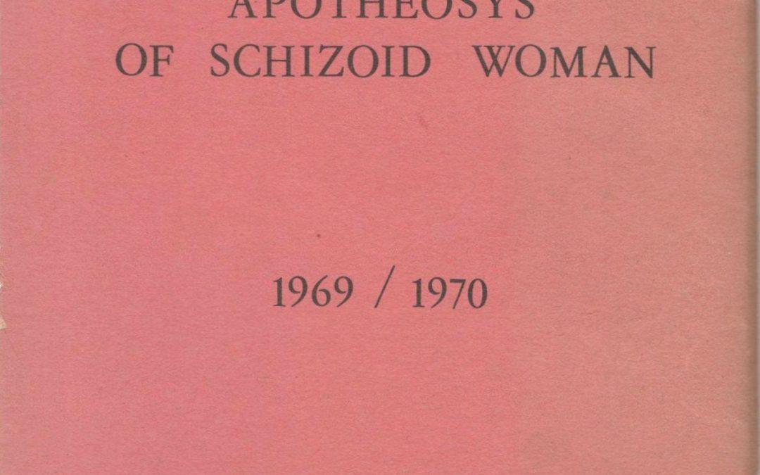 """In vendita rarissima copia di """"Apotheosys of schizoid woman"""" (1979) di Patrizia Vicinelli: pioniera della poesia visiva"""