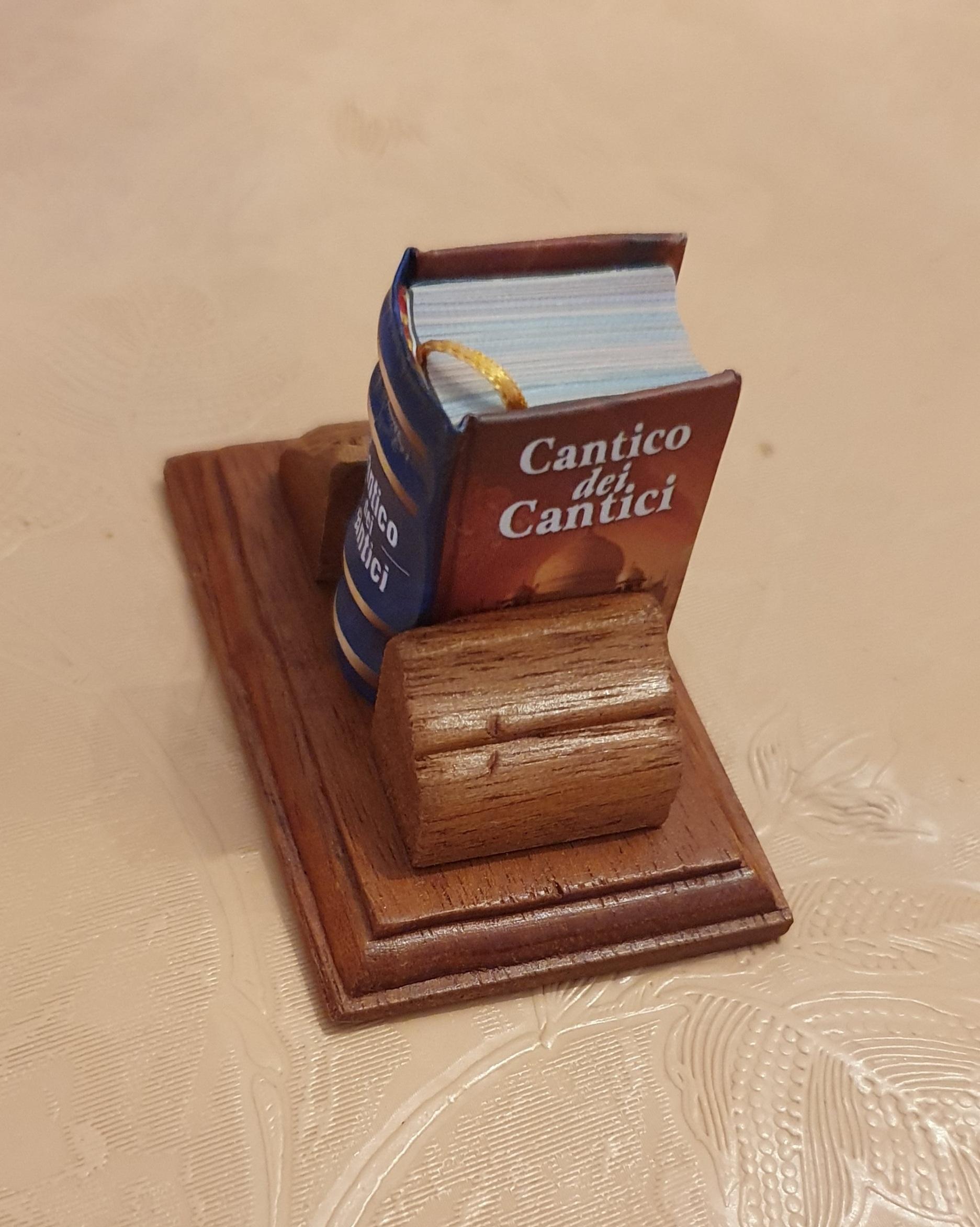 """Un """"Cantico dei cantici"""" alto appena 3 cm preso in una libreria di Roma che non esiste più: Buona Pasqua!"""