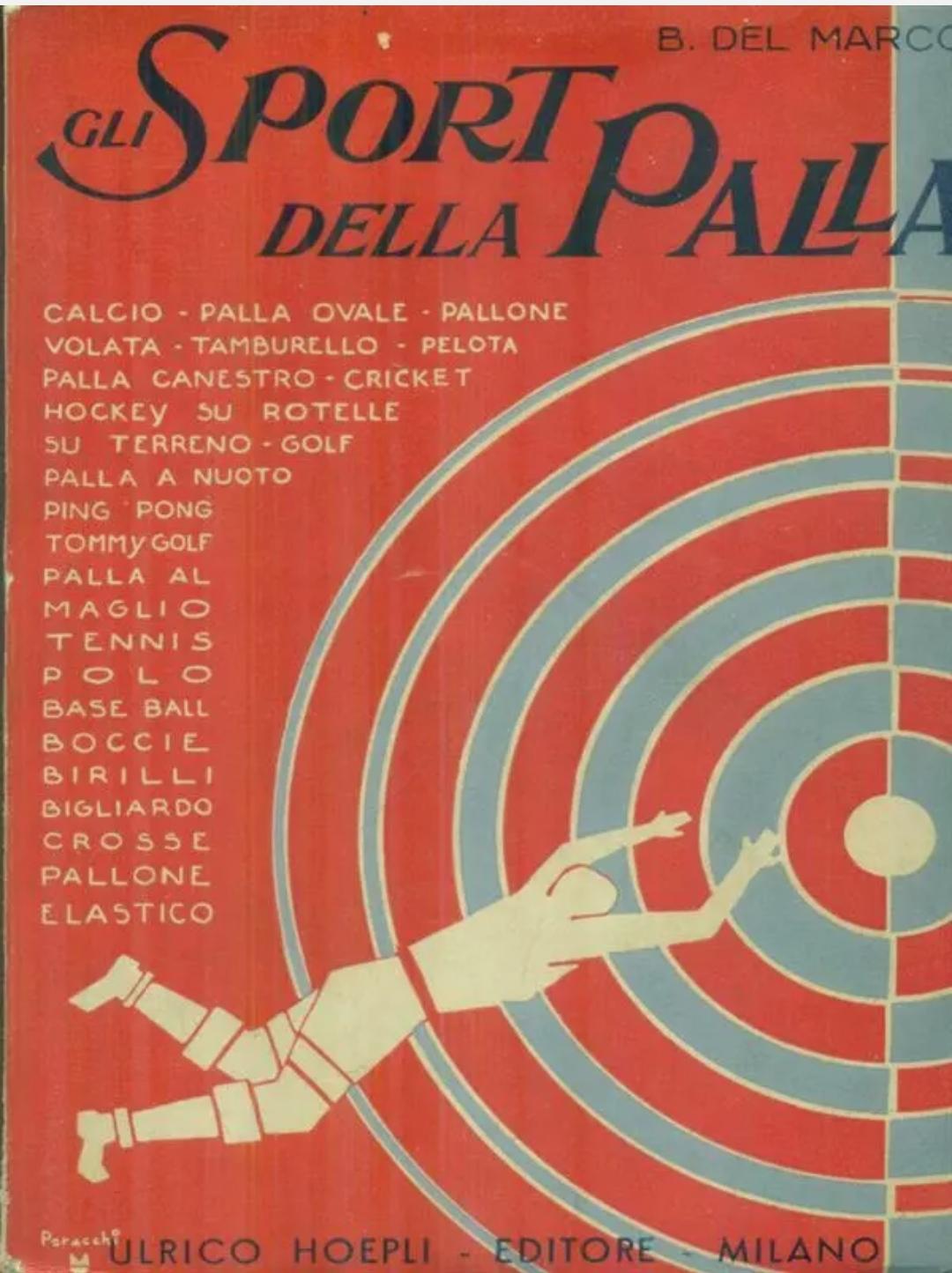 GLI SPORT DELLA PALLA PRIMA EDIZIONE DEL MARCO BENITO ULRICO HOEPLI ED. 1933