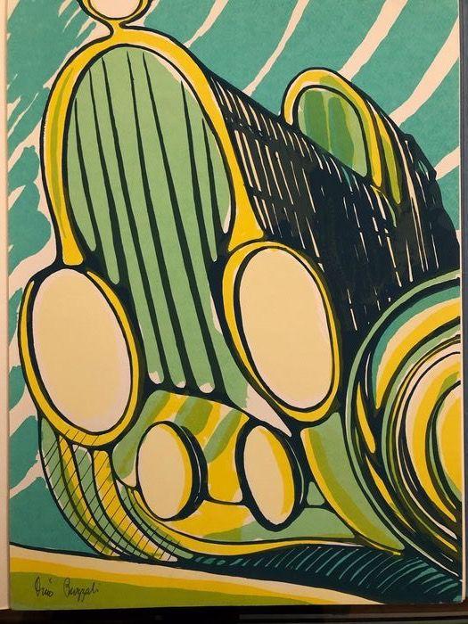"""In asta un eccezionale esemplare di """"Vecchia auto"""" di Dino Buzzati (1968) illustrato dall'autore"""