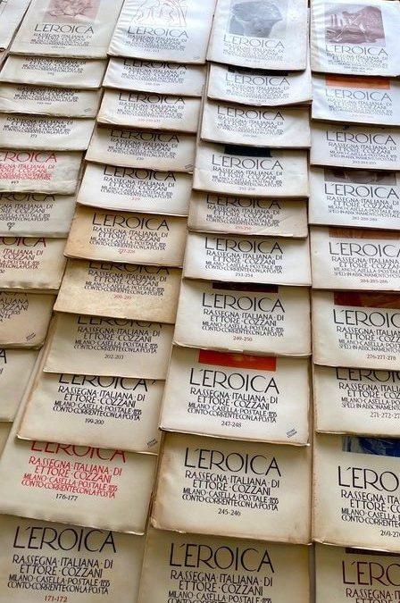 """Raccolta di 65 numeri della rivista """"L'Eroica"""" di Ettore Cozzani all'asta"""