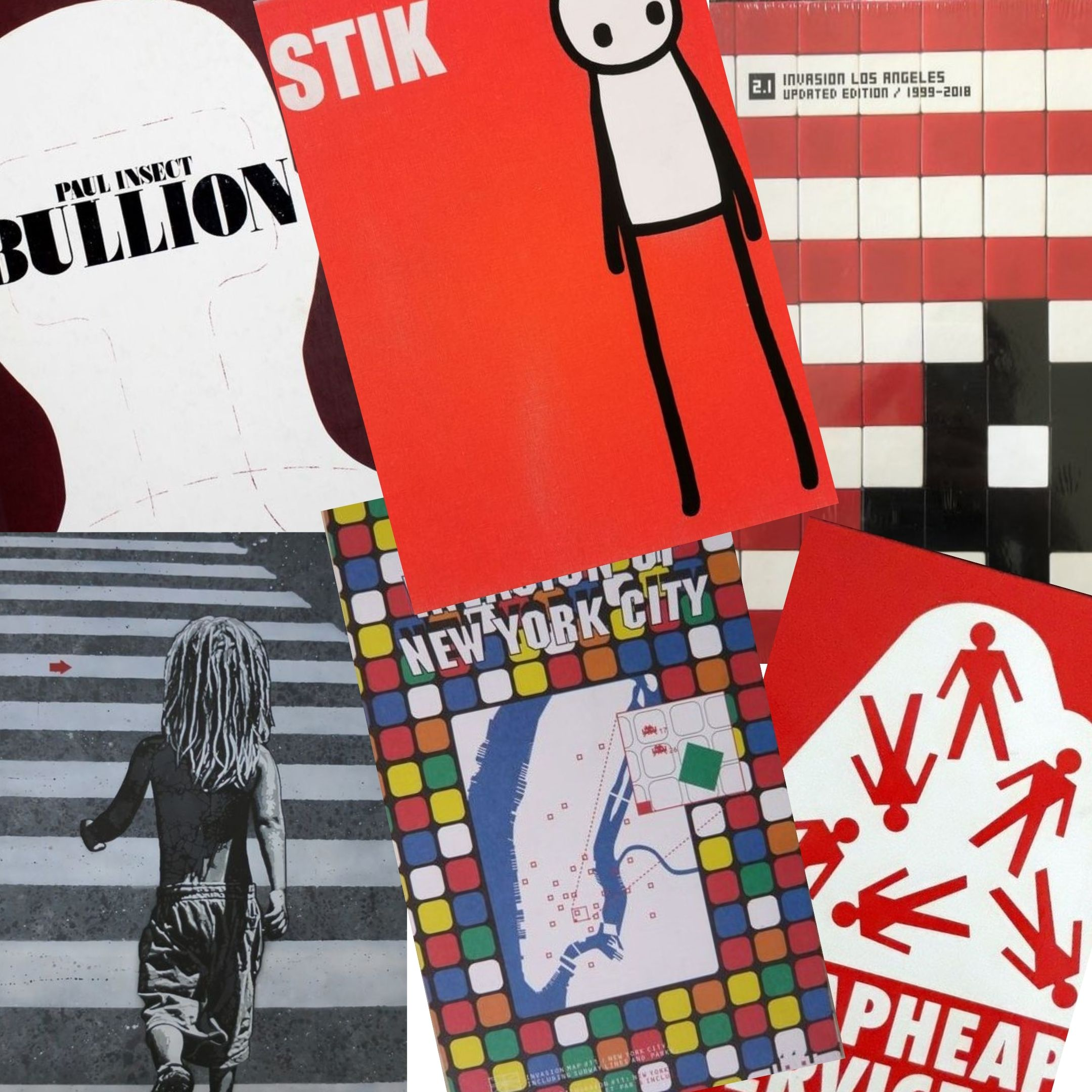 "Iconici libri in asta sulla ""Street Art"": Landy, Stik, Banksy, Space Invader, Jeff Aerosol"