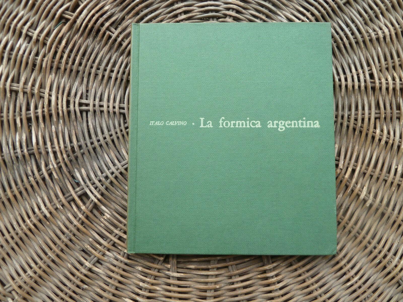 """""""La formica argentina"""" di Italo Calvino (Sodalizio del libro, 1958)"""